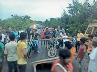 शोभन-एकमी बाईपास में विस्थापितों की झोपड़ी में घुसे ट्रक से जख्मी की मौत|दरभंगा,Darbhanga - Money Bhaskar