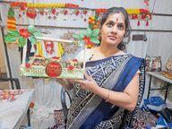 आत्मनिर्भर बनने के लिए तैयार उत्पादों की प्रदर्शनी लगाई, ग्राहकों की उमड़ी भीड़|सीकर,Sikar - Money Bhaskar