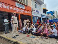 रेवाड़ी की अनाज मंडी में खाद के लिए भारी भीड़, झगड़े बढ़ने लगे तो तैनात करनी पड़ी पुलिस, डायल-112 पर हर घंटे पहुंच रही शिकायतें|हरियाणा,Haryana - Money Bhaskar