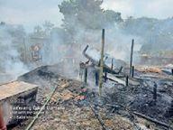 मंगुरजान में आग लगने से एक घर जलकर राख पूर्णिया,Purnia - Money Bhaskar