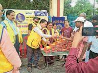 लायंस क्लब ऑफ पूर्णिया ग्रेटर ने जरूरतमंदों के बीच भोजन के पैकेट का वितरण किया पूर्णिया,Purnia - Money Bhaskar