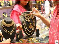 चांदी 900 रुपए प्रति किलो हुई महंगी, जबकि सोना 24 कैरेट प्रति तोला पहुंचा 48 हजार 850 रुपए|जयपुर,Jaipur - Money Bhaskar
