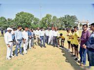 जिला स्तरीय फुटबॉल प्रतियोगिता के उद्घाटन मैच में जीत दर्ज की कोलीड़ा ने सीकर,Sikar - Money Bhaskar