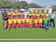 छग जूनियर बालिका हॉकी टीम की विजयी शुरुआत राजनांदगांव,Rajnandgaon - Money Bhaskar