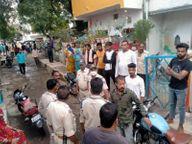 पुरानी रंजिश को लेकर दो पक्षों विवाद, पथराव में वाहनों के कांच फूटे; पुलिस फोर्स तैनात|खंडवा,Khandwa - Money Bhaskar
