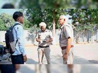टीम ने बुलेट बाइक से पटाखे बजाने पर 27 हजार रुपये का काटा चालान सिरसा,Sirsa - Money Bhaskar
