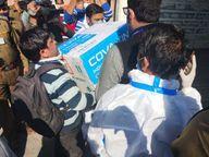 भारत बायोटेकच्या कोव्हॅक्सीनची डिलीव्हरीही सुरू, जयपूरसह 7 शहरांमध्ये पहिली खेप पाठवली|देश,National - Divya Marathi
