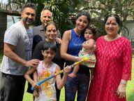 शिल्पा शेट्टीची एक वर्षाची मुलगी समिषा, मुलगा विहान, नवरा, आईसह सासु-सास-यांना कोरोनाची लागण, डॉक्टरांच्या सल्ल्याने संपूर्ण कुटुंब झालं आयसोलेट|बॉलिवूड,Bollywood - Divya Marathi