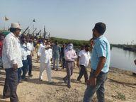 બંદર વિસ્તારમાં ડ્રેજીંગ માટે સર્વે કરાયો|પોરબંદર,Porbandar - Divya Bhaskar
