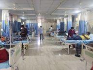 મહેસાણામાં કોરોનાનો રાફડો ફાટ્યો, જિલ્લામાં કોરોના હોસ્પિટલમાં ઓક્સિજન વાળા 95 ટકા બેડ ફૂલ થયા|મહેસાણા,Mehsana - Divya Bhaskar