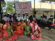 વીજાપુરના સફાઈ કામદારો અને વોટર વર્કસના કર્મચારીઓની પડતર માગણી પૂરી ના થતા હડતાળ પર ઉતર્યા|મહેસાણા,Mehsana - Divya Bhaskar