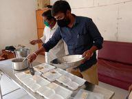 કોરોનાગ્રસ્ત દર્દીઓ માટે નિઃશુલ્ક ભોજન પહોંચાડવાનું આયોજન, ગોવિંદ માધવ મંદિર સંસ્થા મહેસાણામાં આપે છે સેવા|મહેસાણા,Mehsana - Divya Bhaskar