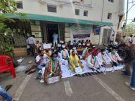દાહોદ જિલ્લા કોંગ્રેસ સમિતિ દ્વારા કોરોનાને લક્ષી સુવિધાઓ માટે ધરણા યોજવામાં આવ્યા દાહોદ,Dahod - Divya Bhaskar