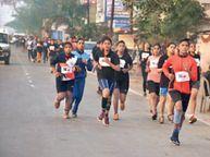 4 किमी की दूरी 15 मिनट में पूरी कर मीनाक्षी ने जीता पहला इनाम|विदिशा,Vidisha - Dainik Bhaskar