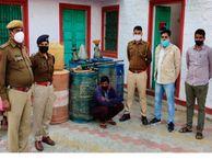 किराणे की दुकान में बेच रहा था अवैध डीजल व पेट्रोल, पुलिस गिरफ्त में आया व्यापार मंडल का अध्यक्ष|जयपुर,Jaipur - Dainik Bhaskar