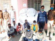 जयपुर में फैक्ट्री से 35 लाख रुपए का कपड़ा चुराने वाली गैंग को पकड़ा, सात लोग गिरफ्तार|जयपुर,Jaipur - Dainik Bhaskar