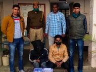 राहगीरों से मोबाइल फोन छीनने वाले दो लुटेरे गिरफ्तार, ऑटो रिक्शा चालकों के साथ मिलकर करते हैं वारदात|जयपुर,Jaipur - Dainik Bhaskar