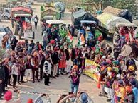 भारतीय किसान मजदूर यूनियन आनंदपुर साहिब ने नंगल में निकाला ट्रैक्टर मार्च|बरनाला,Barnala - Dainik Bhaskar