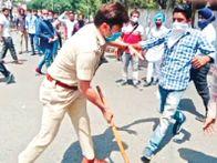 पटियाला में धरने से पहले टेट पास टीचर्स को पुलिस ने घेरा, लाठीचार्ज|पटियाला,Patiala - Dainik Bhaskar