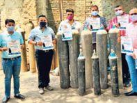 मारवाड़ी युवा मंच ने बनाया ऑक्सीजन बैंक नि:शुल्क मिलेगा, मोबाइल नंबर किया जारी जमशेदपुर,Jamshedpur - Dainik Bhaskar