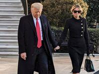 65 लाख के क्रोकोडाइल हर्मीज बैग के साथ व्हाइट हाउस से विदा हुईं मेलानिया; तलाक के भी कयास|विदेश,International - Dainik Bhaskar