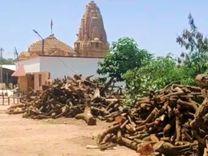 કોરોનાના કારણે સ્મશાનમાં મૃતેદહના અંતિમસંસ્કારની સંખ્યા વધતા લાકડાની જરુરિયાત વધી, સામાજિક સંસ્થાની અપીલ બાદ 40 ટન લાકડા એકત્ર થયા|ભુજ,Bhuj - Divya Bhaskar