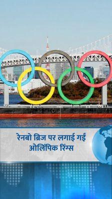 4 महीने बाद रेनबो ब्रिज पर लगाई गईं ओलिंपिक रिंग्स, कोरोना की वजह से हटाई गईं थीं