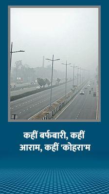 हिमाचल के 4 जिलों में तापमान माइनस में, राजस्थान के आबू में पारा फिर जीरो हुआ