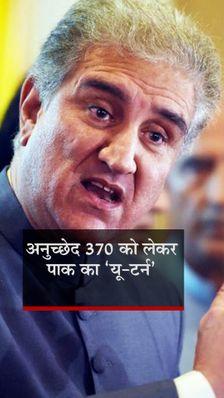 शाह महमूद कुरैशी बोले- आर्टिकल 370 हटाना भारत का आंतरिक मामला, पाकिस्तान को 35A रद्द होने से परेशानी