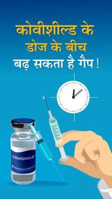 कोवीशील्ड के 2 डोज के बीच अब 12 से 16 हफ्ते का गैप रहेगा; संक्रमित हो चुके लोगों को 6 महीने बाद ही टीका लगवाने की सलाह