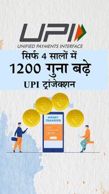 बीते 4 सालों में 1200 गुना बढ़े UPI ट्रांजैक्शन, 2020-21 में इसके जरिए हुआ 41 लाख करोड़ रुपए का लेन-देन