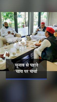 दिल्ली में तीनों नेताओं ने UP चुनाव पर चर्चा की, लालू बोले- देश को समाजवाद की जरूरत; देखें मुलाकात की 7 तस्वीरें