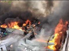 रामेश्वर पुलिया के यहां दुकान में लगी आग, 7 दमकल सहित निगम के टैंकरों से पाया काबू खंडवा,Khandwa - Dainik Bhaskar