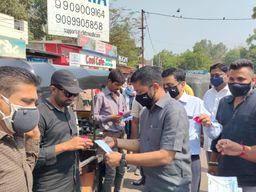 ભરૂચમાં કોરોના સંક્રમણ અટકાવવા નગર સેવા સદન દ્વારા માસ્કનું વિતરણ કરવામાં આવ્યું ભરૂચ,Bharuch - Divya Bhaskar