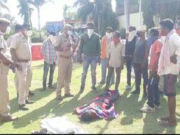 परिजनों ने जताई हत्या की आशंका, बोले पहले हत्या की फिर करंट लगाया; पुराने चौकीदार पर जताया शक|बांसवाड़ा,Banswara - Dainik Bhaskar
