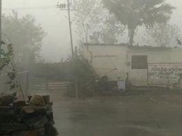 चक्रवात तोकते का दिखा असर, बोराव में तेज हवा के साथ हुई बारिश, 33 केवी लाइन का पोल गिरा|राजस्थान,Rajasthan - Dainik Bhaskar