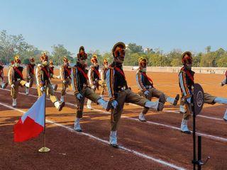 लाल परेड मैदान पर बैंड की धुन पर जवानों काकदमताल, झांकियों में आत्मनिर्भर भारत की झलक|भोपाल,Bhopal - Dainik Bhaskar