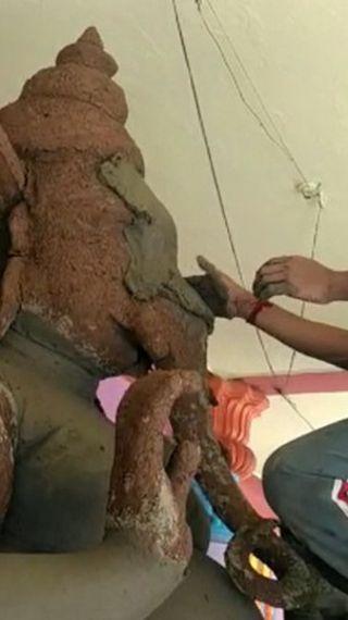 सबसे ऊंची गणेश प्रतिमा के लिए प्रसिद्ध खैरताबाद में इस बार सिर्फ 9 फीट की गणेश मूर्ति, पिछले साल 1 करोड़ रुपए में बनी थी 61 फीट ऊंची मूर्ति