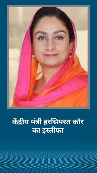 केंद्रीय मंत्री हरसिमरत कौर बादल का इस्तीफा राष्ट्रपति ने मंजूर किया; 3 कृषि विधेयकों पर 4 आशंकाओं के चलते अकाली दल और एनडीए में दरार - देश - Dainik Bhaskar
