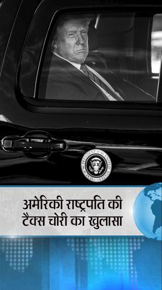 ट्रम्प ने 2017 में अमेरिका में सिर्फ 55 हजार रु. टैक्स दिया, इसी साल उनकी फर्म ने भारत में 1.07 करोड़ रु. टैक्स चुकाया - विदेश - Dainik Bhaskar