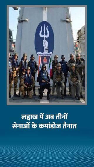 पैंगॉन्ग में अब नेवी के मार्कोस कमांडो तैनात, आर्मी और एयरफोर्स कमांडो पहले से मौजूद - देश - Dainik Bhaskar