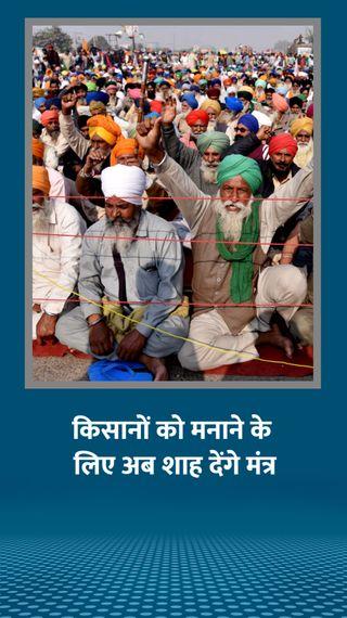 किसानों को मनाने में नाकाम रहे मंत्री अमित शाह से मिले; पुलिस ने दिल्ली-नोएडा बॉर्डर बंद किया - देश - Dainik Bhaskar