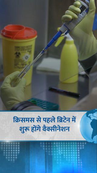 UK तीन फेज के ट्रायल के बाद टीके को मंजूरी देने वाला दुनिया का पहला देश बना, फाइजर को मिला अप्रूवल - विदेश - Dainik Bhaskar