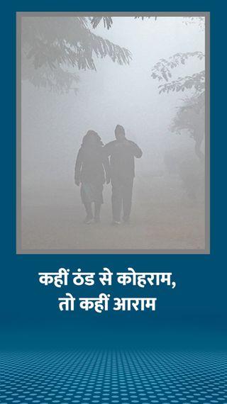 MP के पूर्वी इलाकों में तेज ठंड, पश्चिम में टेम्परेचर बढ़ा; गुजरात में विजिबिलिटी 100 मीटर से भी कम - देश - Dainik Bhaskar