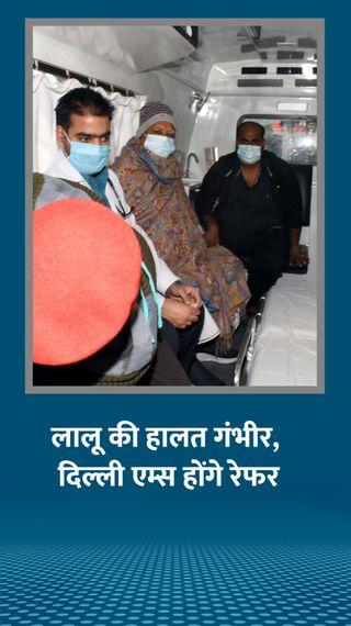 राजद चीफ को निमोनिया के साथ सांस लेने में परेशानी, मेडिकल बोर्ड की सलाह पर दिल्ली AIIMS भेजा जाएगा - रांची - Dainik Bhaskar