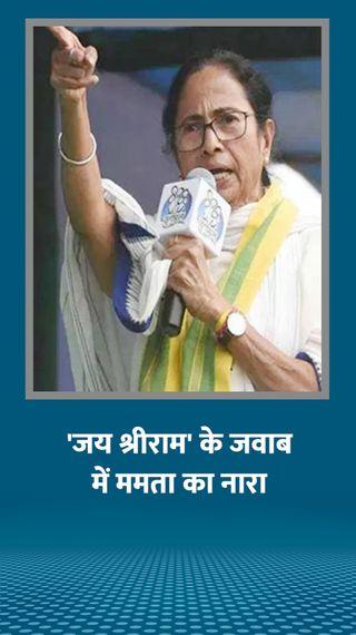 ममता बनर्जी बोलीं- भाजपा का काम सिर्फ तांडव करना; नारा दिया- हरे कृष्णा हरे राम, विदा हो BJP-वाम - देश - Dainik Bhaskar