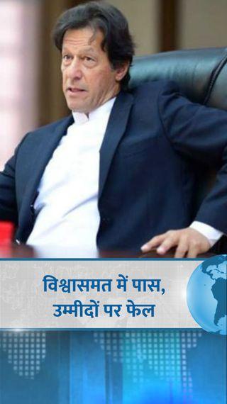 इमरान खान फ्लोर टेस्ट में भले पास हो गए, लेकिन जीत के बावजूद उन्हें राजनीतिक चुनौती मिली है - विदेश - Dainik Bhaskar
