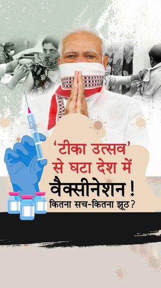 देश में 4 दिन के कोरोना टीका उत्सव में वैक्सीनेशन बढ़ने की बजाय 12% घट गया, अब सरकार का दावा- 1.28 करोड़ को डोज दी - देश - Dainik Bhaskar
