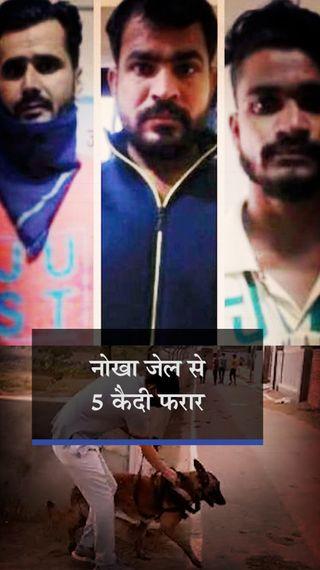बीकानेर की नोखा जेल से रात ढाई बजे 5 कैदी फरार; पहले दीवार और खिड़की तोड़ी फिर कंबल की रस्सी बनाकर भागे - बीकानेर - Dainik Bhaskar