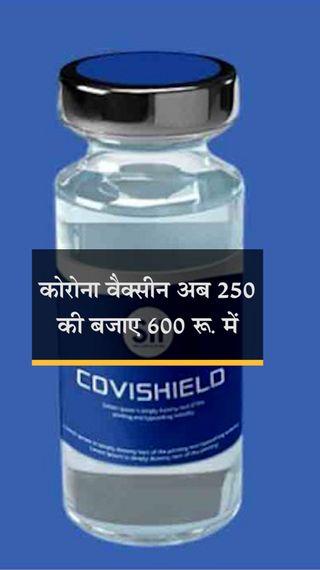 सीरम ने कहा- प्राइवेट अस्पतालों को 250 की जगह 600 रु. में मिलेगी वैक्सीन, राज्यों के लिए रेट 400 रु. - देश - Dainik Bhaskar